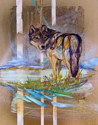 Painting - Idaho Wolf by Andrea LaHue aka Random Act
