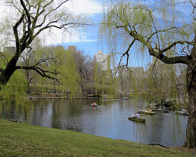 Idyllic Spring Day In Central Park Print by Muriel Levison Goodwin