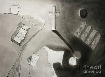 If Not Left In Gods Hands Print by Peter Piatt