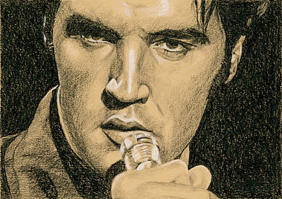 Elvis Drawing - If You're Looking For Trouble by Rob De Vries