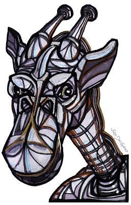 iGiraffe Print by Del Gaizo
