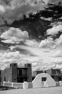 Adobe Church Photograph - Iglesita De Pueblo De Taos - New Mexico by Silvio Ligutti