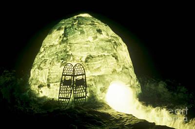 Igloo Photograph - Igloo At Night by Mark Newman