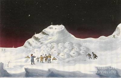 Igloo Photograph - Igloos In The Canadian Arctic, 1830s by British Library