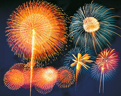 Ignited Fireworks Print by Panoramic Images