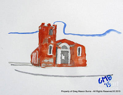 Iglesia Painting - Igreja Nossa Senhora Do Rosario De Fatima by Greg Mason Burns