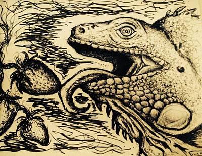 Iguana Print by Dave Wilson