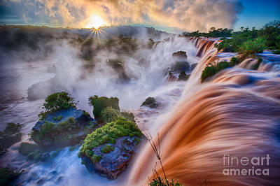 Iguazu Sunrise Print by Inge Johnsson