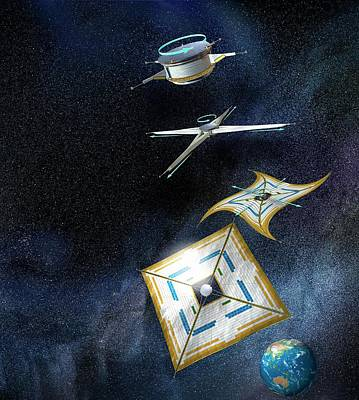 Interplanetary Space Photograph - Ikaros Solar Sail by Henning Dalhoff