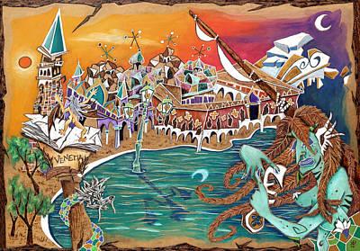 Pyrography Painting - Il Bacio Di S. Marco - Venice Landscape by Arte Venezia