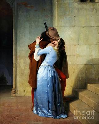 Hayez Painting - Il Bacio by Reproduction