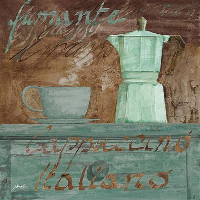 Espresso Painting - Il Cappuccino E La Moka by Guido Borelli