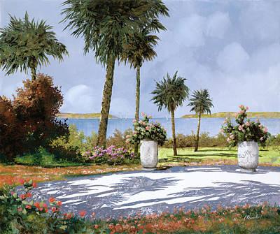 Vase Painting - Il Giardino Delle Palme by Guido Borelli