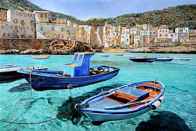 Greece Painting - Il Mare Smeraldo by Guido Borelli