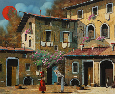 Lawyers Painting - Il Notaio E Il Marinaio by Guido Borelli
