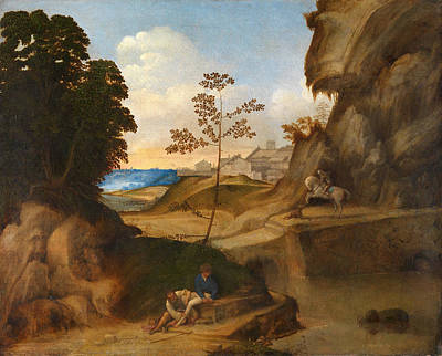 Giorgione Painting - Il Tramonto. The Sunset by Giorgione