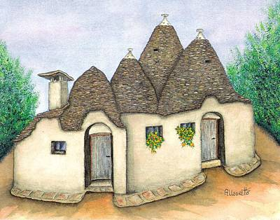 Fantasy Tree Mixed Media - Il Trullo Alberobello by Pamela Allegretto
