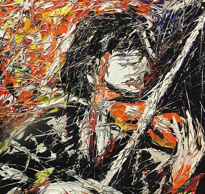 Quadri Painting - Il Violinista by Enrico Nicodemo