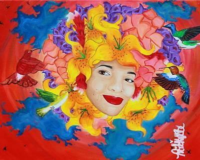 Black Bird.flying Art Painting - I'll Fly Away by Aliya Michelle