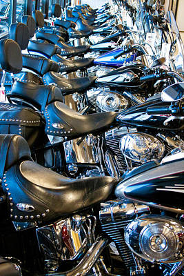 Cycles Photograph - I'll Have A Dozen Harley's To Go Please by David Patterson