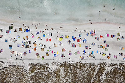 Umbrella Photograph - Illetes Beach, Formentera by Xavier Durán