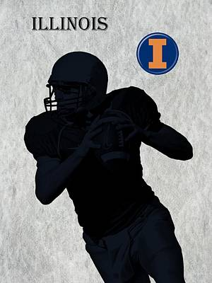 Michigan State Digital Art - Illinois Football by David Dehner