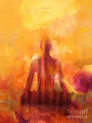 Zen Digital Art - Illuminated by Lutz Baar