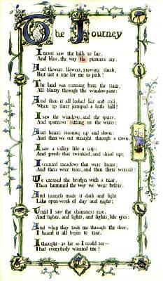 Illuminated Poem 1903 Print by Padre Art