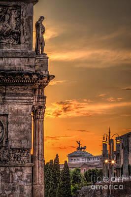Roma Photograph - Illuminati Rome by Erik Brede
