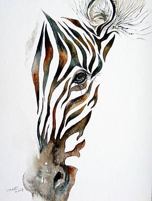 Zebra Painting - Illusion by Arti Chauhan