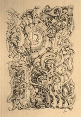 Abstract Shapes Drawing - Illusion by Mikhail  Riabtsovski
