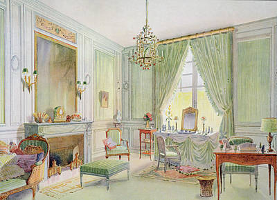 Desk Drawing - Illustration From Interieurs De Style by Georges Remon