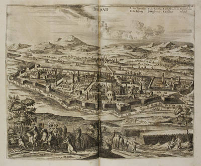 Illustration Of Baghdad In The 17th Centu Print by British Library