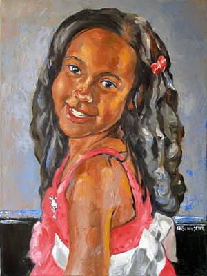 Becky Kim Artist Painting - Illyana by Becky Kim