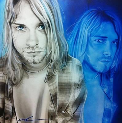 Kurt Cobain Painting - Kurt Cobain - ' I'm Real Good At Hating ' by Christian Chapman Art