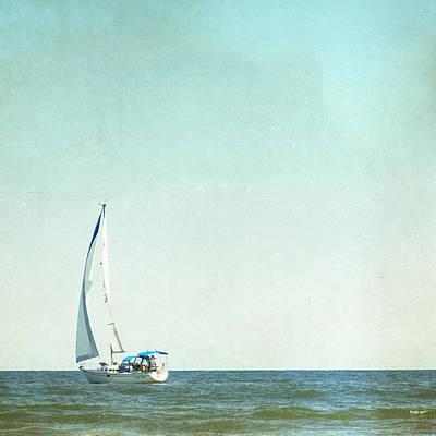 Beach Photograph - I'm Sailing Away by Carolyn Cochrane
