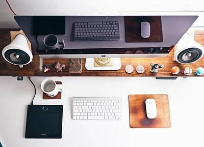 Workaholics Photograph - iMac OCD by Nick Lalakos