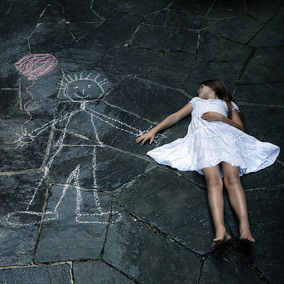 Floating Girl Photograph - Imaginary Friend by Joana Kruse