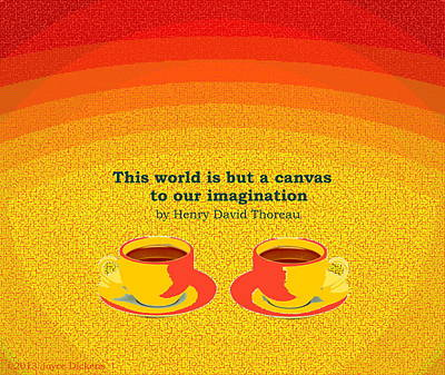 Friendly Digital Art - Imagination by Joyce Dickens