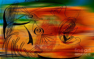 Abstract Mixed Media - Imagination by Marvin Blaine