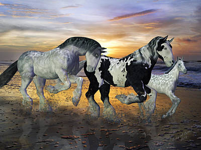 Topsail Island Mixed Media - Imagination On The Run by Betsy Knapp
