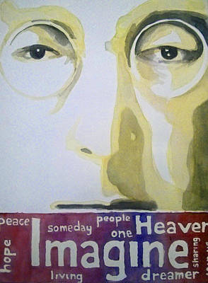 Johnlennon Painting - Imagine - John Lennon by Sai P
