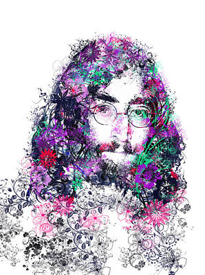 Beatles Digital Art - Imagine 2 by Bekim Art