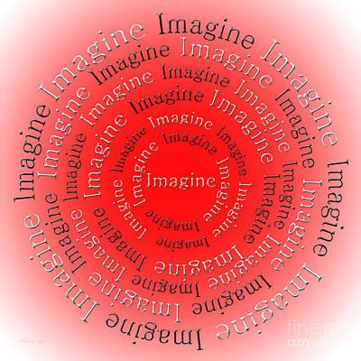 Beatles Digital Art - Imagine 3 by Andee Design
