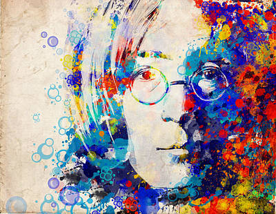 Beatles Digital Art - Imagine 5 by Bekim Art