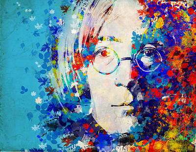 Beatles Digital Art - Imagine 6 by Bekim Art