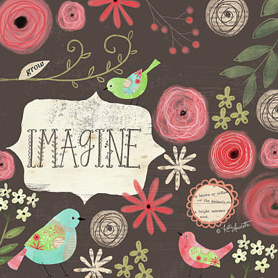 Inspirational Painting - Imagine Birds by Katie Doucette