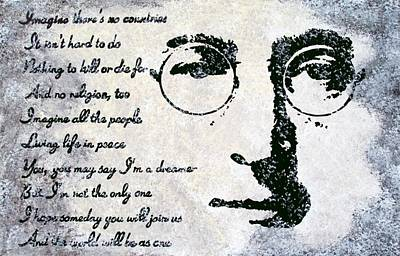 80 Painting - Imagine-john Lennon by Bryan Dubreuiel
