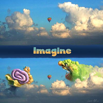 Imagine Digital Art - Imagine Snail And Ogre by Aaron Blaise