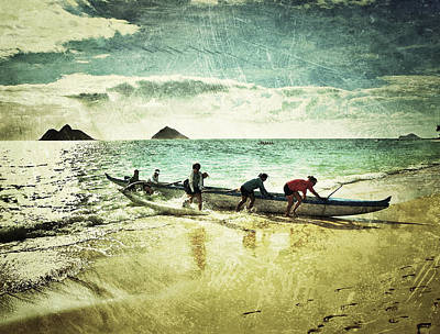 Haleiwa Photograph - Morning Paddle by Stacy Vosberg